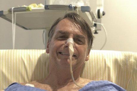 Jair Bolsonaro está internado no hospital Albert Einstein Reprodução/Twitter - 08.02.2019